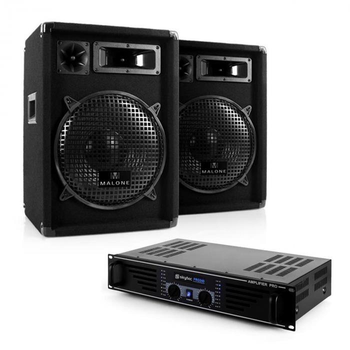 """Electronic-Star DJ- PA-setti """"Nizza Nights"""" vahvistin 2x kaiuttimet"""