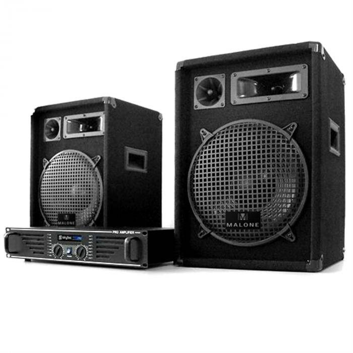 "Electronic-Star DJ-PA-setti ""Marrakesch Lounge"" vahvistin 2 kaiutinta"