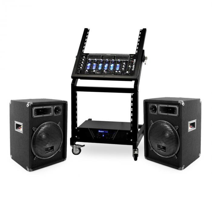 Electronic-Star DJ- PA-setti Rack Star-sarja Mercury Beat 250 henkilöä