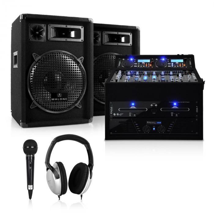 Electronic-Star DJ- PA-setti Rack Star-sarja Jupiter Shock 800W räkki