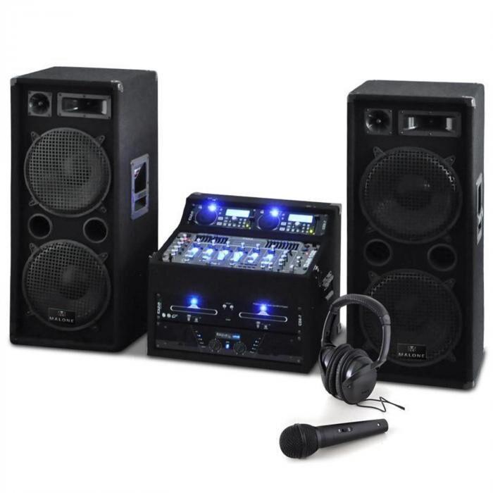Electronic-Star DJ- PA-setti Rack Star Terra Titan 2000W 400 henkilöä