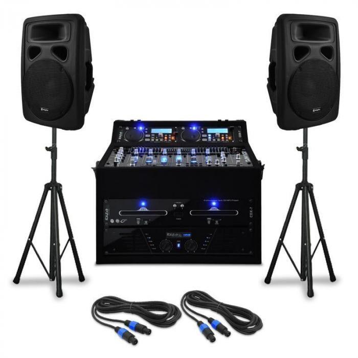 "Electronic-Star DJ- PA-setti ""Urban Trip-Hop Beats"" 250 henkilöä 1000W USB"