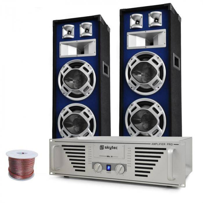"Electronic-Star DJ- PA-setti ""Bass TiTan"" vahvistin kaiuttimet 1600W"
