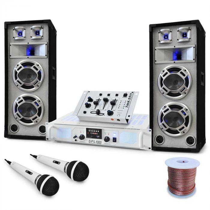 Electronic-Star Polar Bear-DJ/PA-setti, mikseri, vahvistin, kaiuttimet,2200W