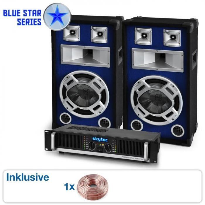 Electronic-Star Beatbass II PA-laitteisto, Kaiuttimet, Vahvistin, 1200W