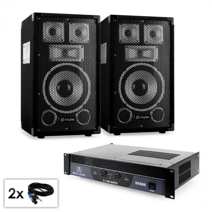 "Electronic-Star PA-setti Saphir-sarja ""Warm Up Party TX8"" 20cm kaiuttimet & vahvistin 800W"