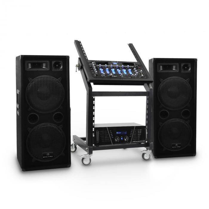 Electronic-Star DJ PA-setti Rack Star-sarja Mars Flash Bluetooth