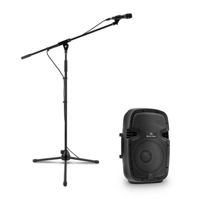 Malone PW-2112 aktiivinen PA-kaiutinsetti mikrofonilla 600 W musta