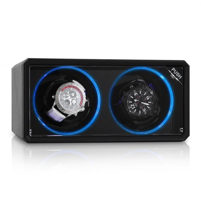 Klarstein 8LED2S kelloliikutin 2 kelloa musta LED-efekti