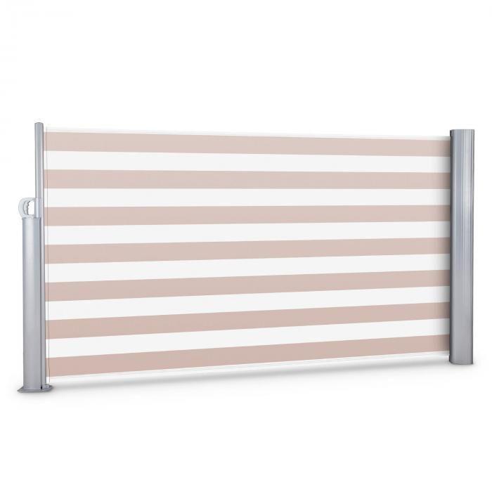 Blumfeldt Bari 316 sivumarkiisi 300x160cm alumiini kerma/valkoinen