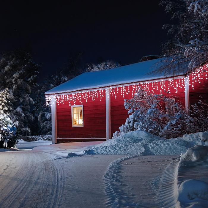 Blumfeldt Dreamhouse valosarja 24 m 480 LED kylmävalkoinen lumitehoste