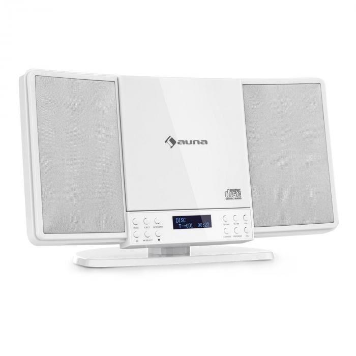 Auna V14-DAB pystystereot CD FM ja DAB+ radio BT valkoinen