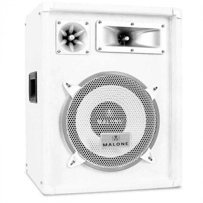 Malone PA-kaiutin Auna™ PW 1022 valkoinen 25cm kaiutin 400W