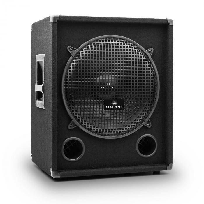 Malone PW-1015-SUB passiivinen PA-subwoofer 38 cm 500 W RMS / 1000Wmax. musta