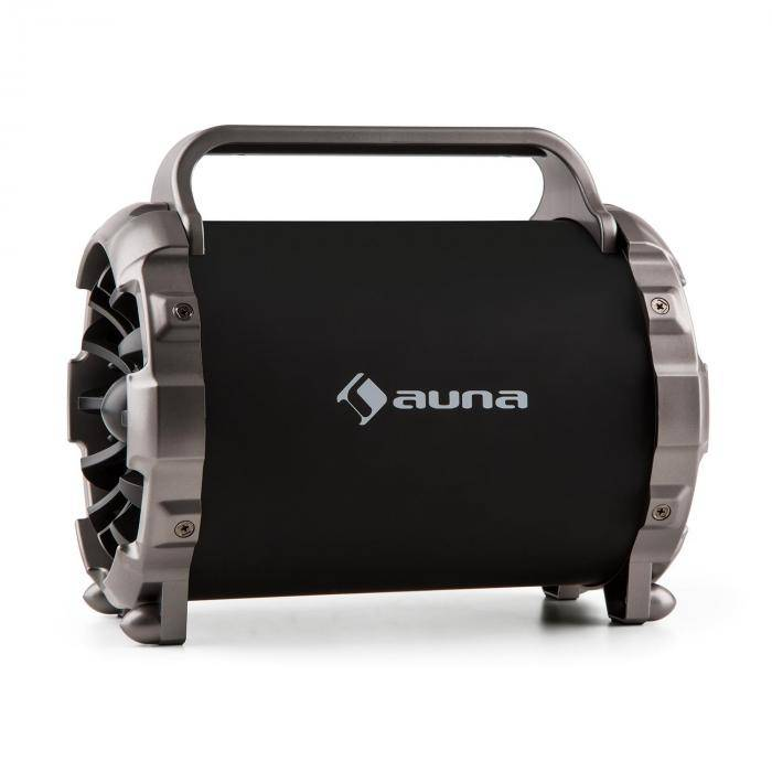 Auna Blaster M tragbarer bluetooth-kaiutin LED-valoefekti AUX SD USB UKW