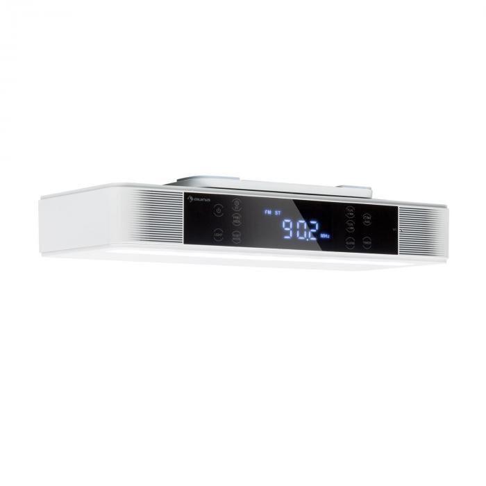 Auna KR-140 Bluetooth keittiöradio kaiutin FM-radio LED-valo valkoinen