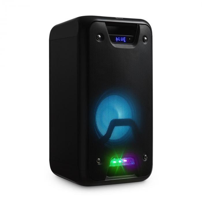 Auna PSS60 kannettava kaiutin bluetooth MP3 mikrofoni radio LED & USB