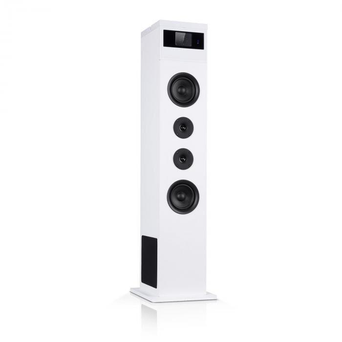 Auna Karaboom 100 kaiutin 120 w max. BT/USB/MP3/UKW/AUX-in tablettipidike valkoinen