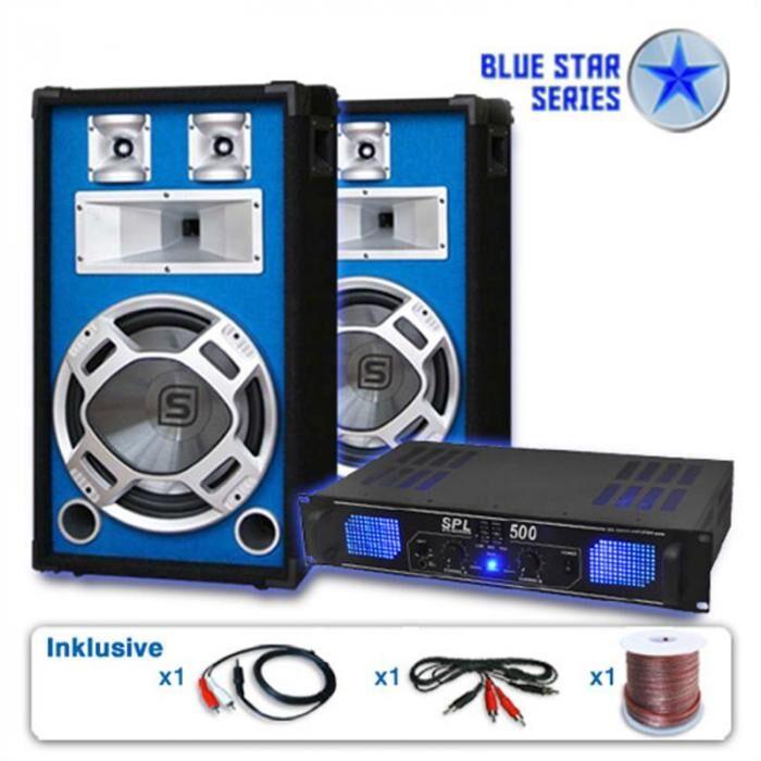 "Electronic-Star Pa-setti Blue Star-sarja ""Basskick"" 1600W 1 vahvistin 2 kaiu"