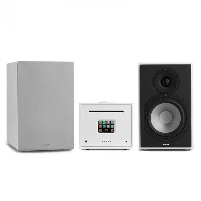 Numan Unison Reference 802 Edition – stereolaitteisto vahvistin kaiuttimet + suojus