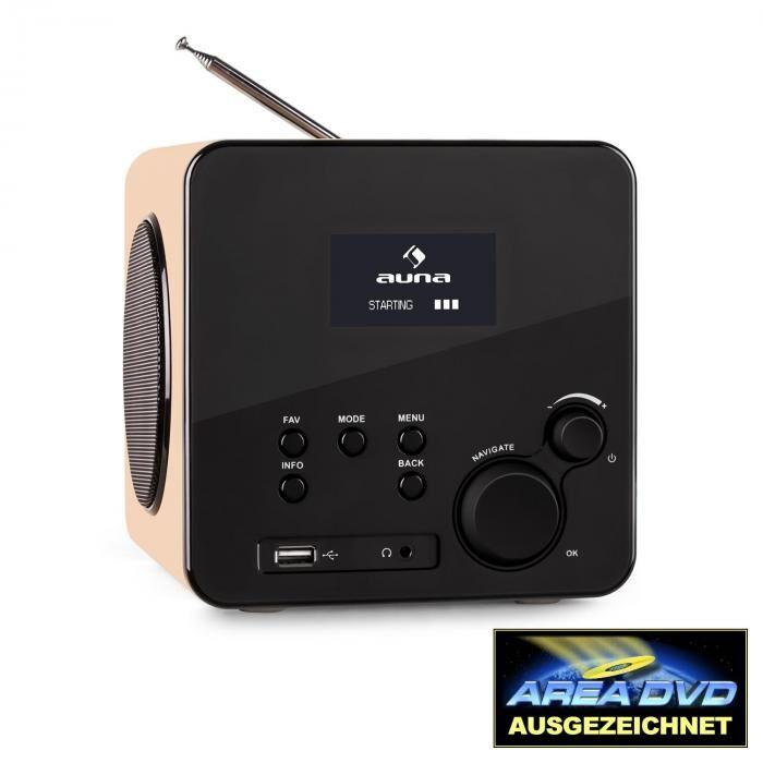 Auna Radio Gaga internetradio WLAN/LAN DAB/DAB+ FM USB AUX vaahtera