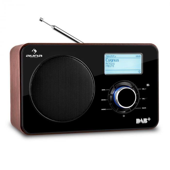 Auna Worldwide internetradio WLAN/LAN DAB+ UKW Tuner USB AUX Dual Alarm