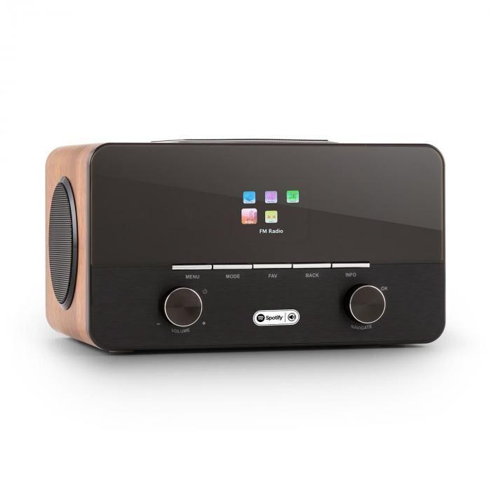 Auna Connect 150 WD 2.1-internetradio mediasoitin Spotify Connect WLAN LAN USB DAB+ FM