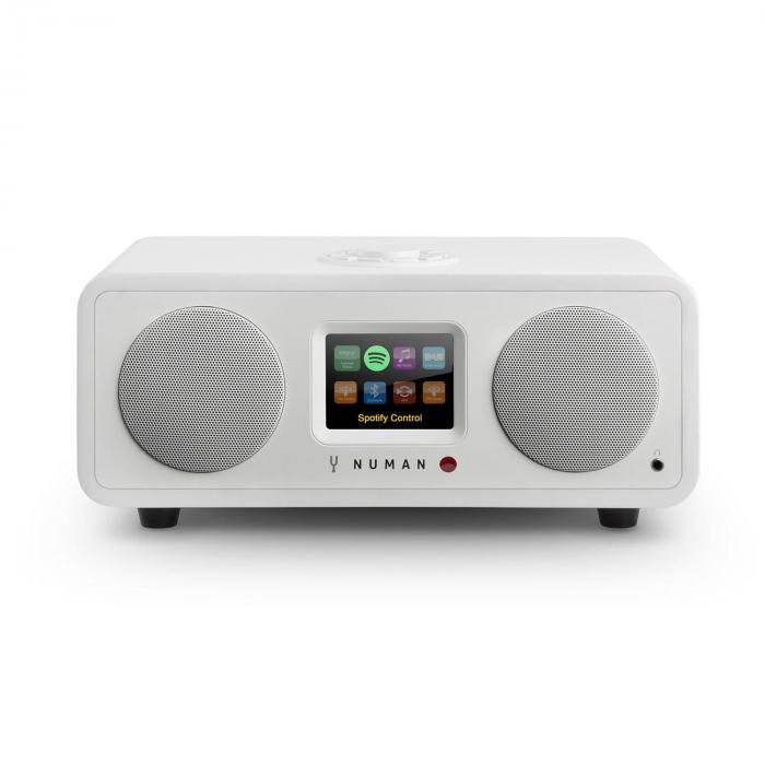 Numan One – 2.1 design internet radio 20W bluetooth Spotify connect DAB+ valkoinen