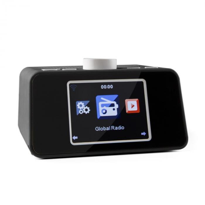 """Auna I-snooze internetradio radioherätys WLAN USB AUX 3,2 """" TFT-värinäyttö"""
