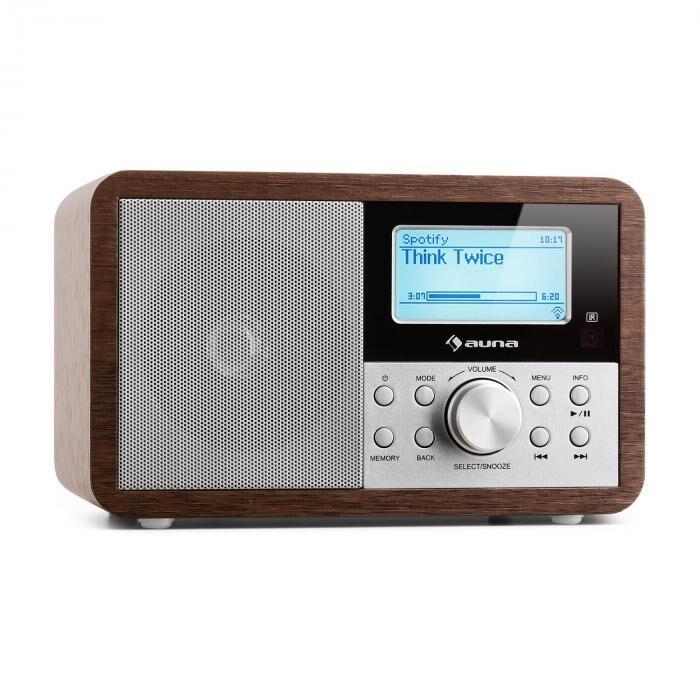 Auna Worldwide Mini internetradio WLAN verkkosoitin USB MP3 AUX FM-radio