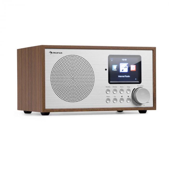 Auna Silver Star Mini internet DAB+/UKW radio, WiFi, BT, DAB+/UKW, mänty