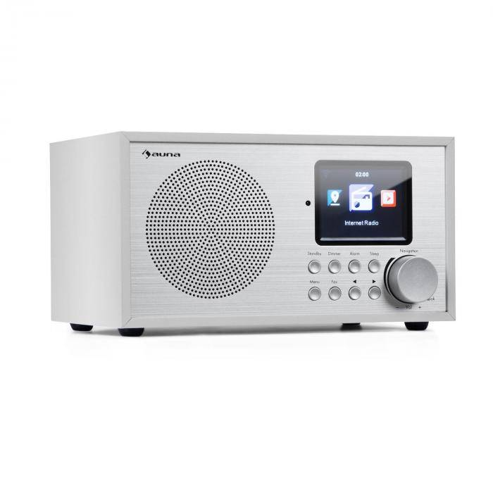 Auna Silver Star Mini internet DAB+/UKW radio, WiFi, BT, DAB+/UKW, valkoinen