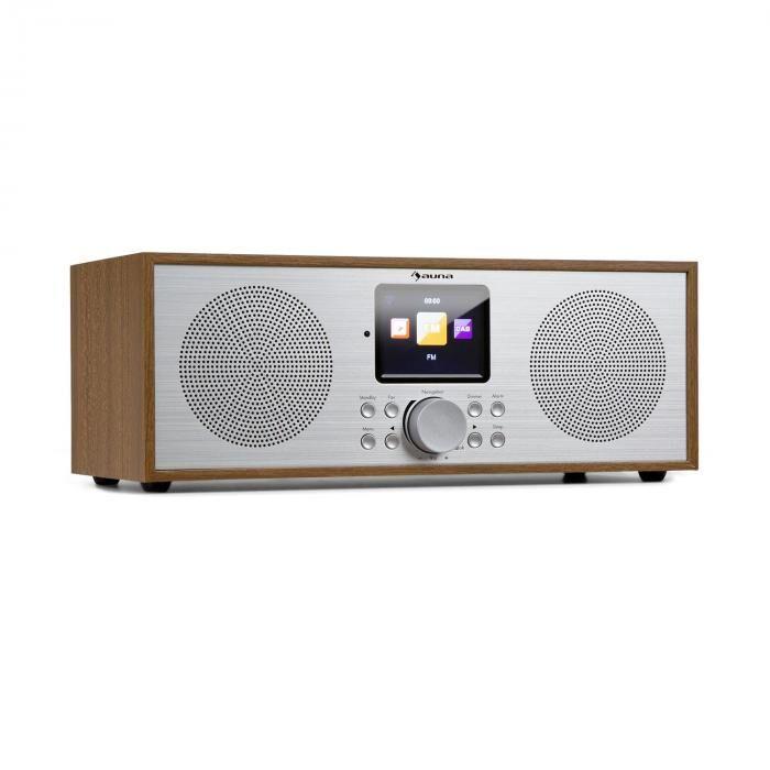 Auna Silver Star -stereo internet DAB+/UKW radio, WiFi, BT, DAB+/UKW, tammi