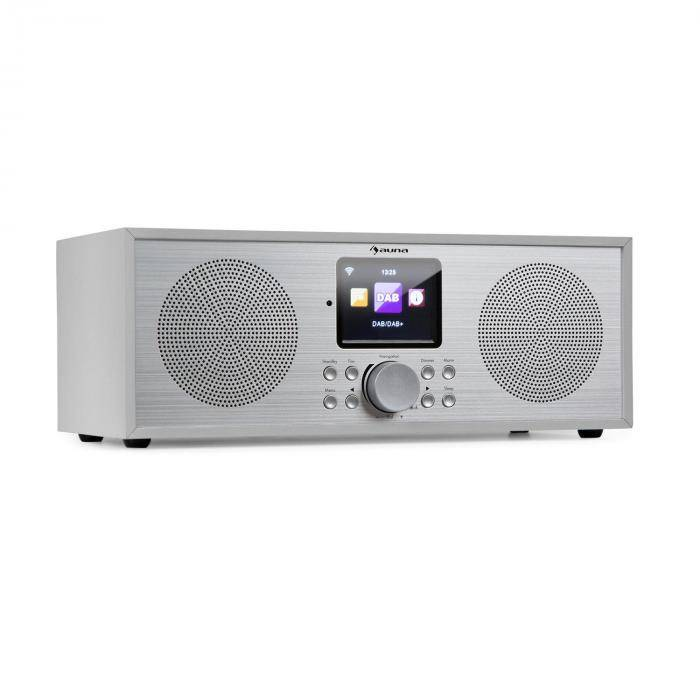 Auna Silver Star -stereo internet DAB+/UKW radio, WiFi, BT, DAB+/UKW, valkoinen