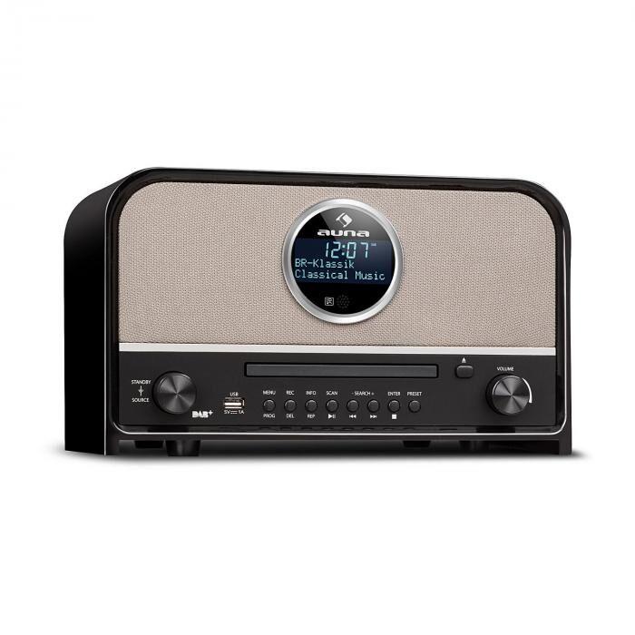Auna Columbia DAB radio 60 W max. CD DAB+/FM-radio bluetooth MP3 USB musta