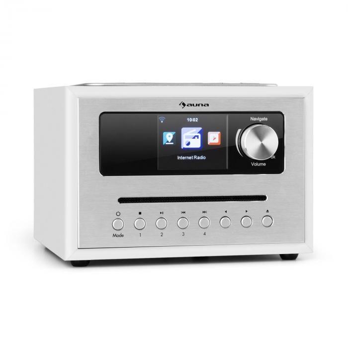 Auna Silver Star CD Cube Radio Bluetooth HCC-näyttö valkoinen