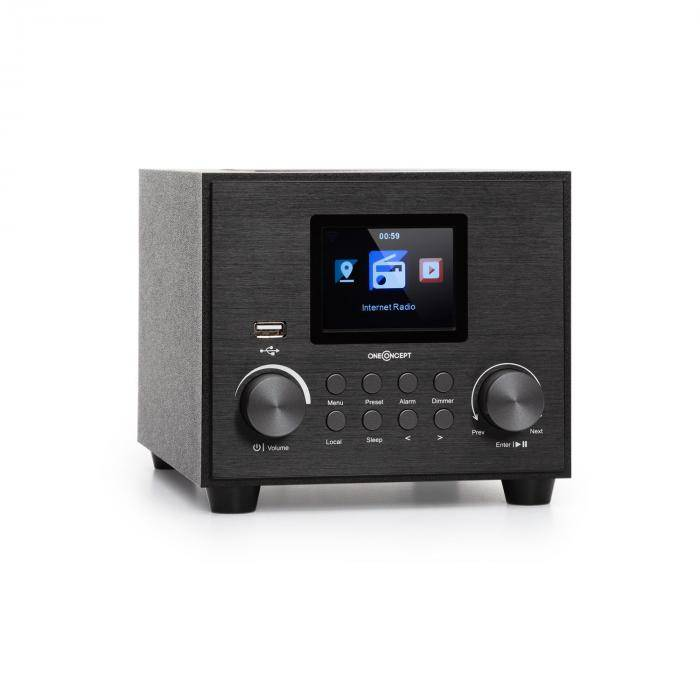 Auna Streamo Cube internetradio 3W & 5W RMS WLAN BT musta
