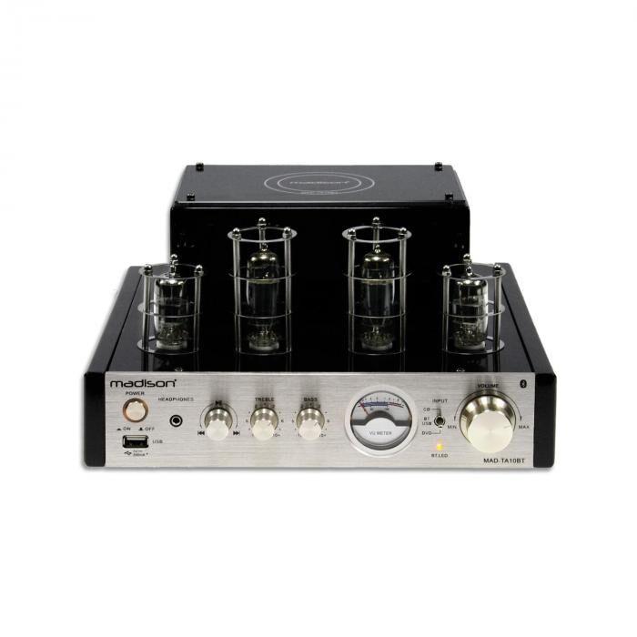 Madison MAD-TA10BT putkivahvistin 2x25W RMS bluetooth USB linja