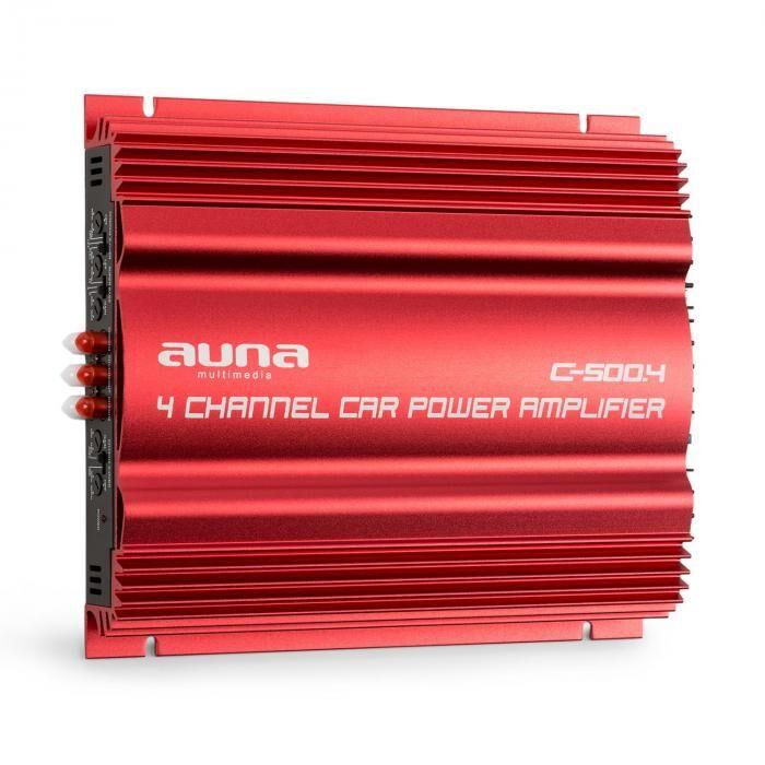 Auna C500.4 4-kanava-vahvistaja autopäätelaite 4x 65W RMS