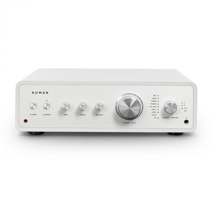 Numan Drive digitaalinen stereovahvistin 2 x 170 W / 4 x 85 W RMS AUX/phono/coax valkoinen