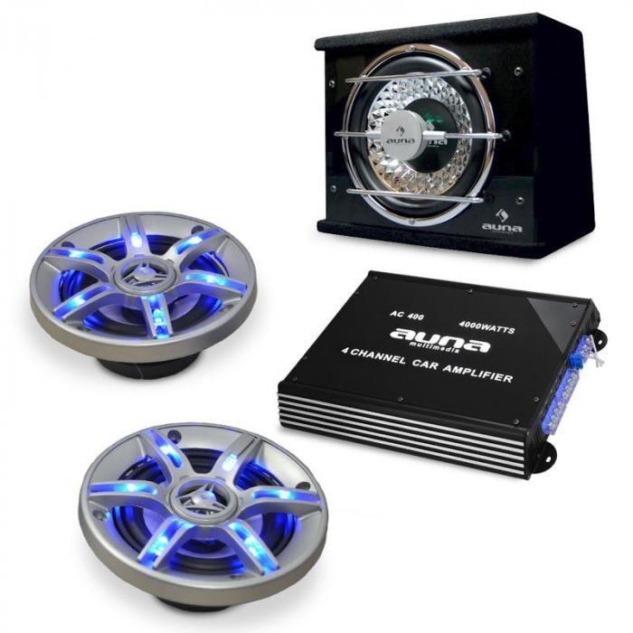 "Electronic-Star Auto HiFi-setti ""BeatPilot FX211"" kaiutin-vahvistin"