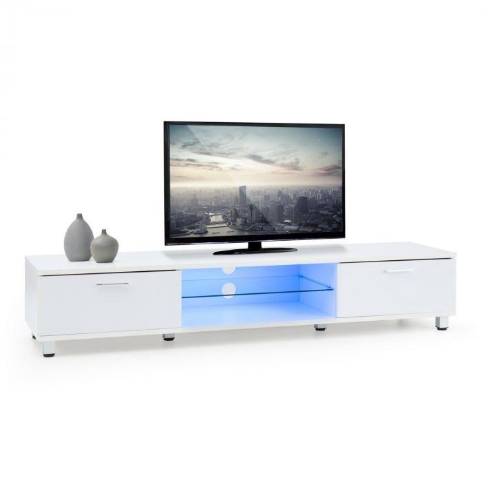 OneConcept Keira matala TV-taso LED-tunnelmavalo värinvaihto valkoinen
