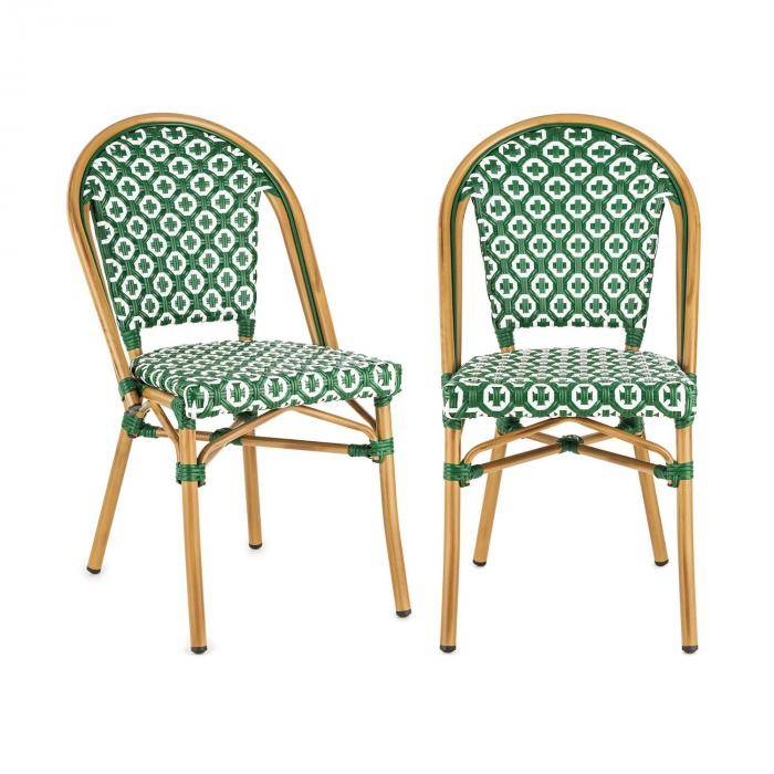 Blumfeldt Montbazin GR tuoli pinottava alumiinirunko polyrottinki vihreä