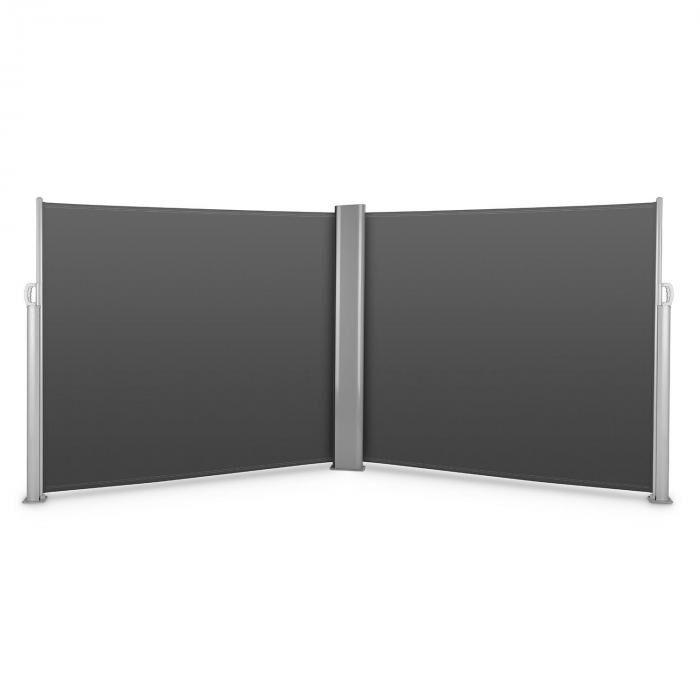 Blumfeldt Bari Doppio 616 sivumarkiisi kaksisivuinen 6 x 1,6 m alumiini antrasiitti