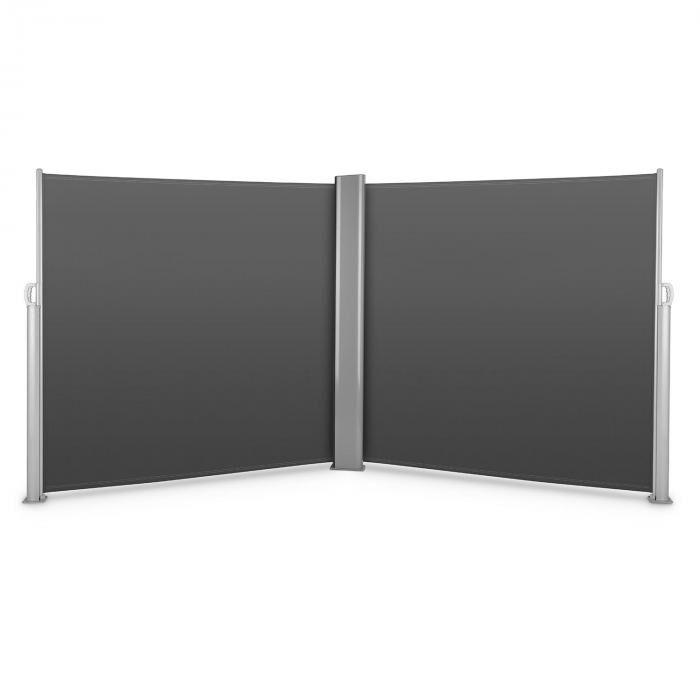 Blumfeldt Bari Doppio 618 sivumarkiisi kaksisivuinen 6 x 1,8 m alumiini antrasiitti