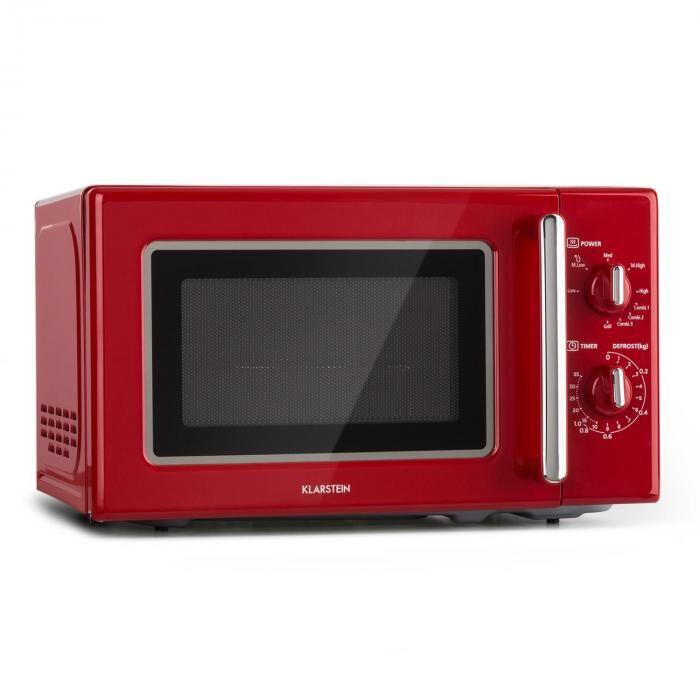 Image of Klarstein Caroline mikroaaltouuni 20 l 700/1000 W Ø 25,5 cm QuickSelect retro punainen