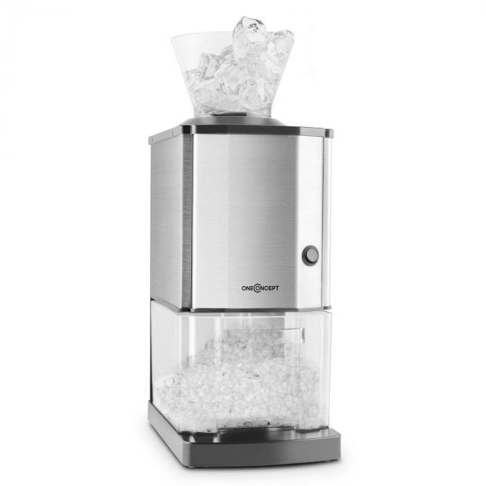 OneConcept Icebreaker jäämurskain 15kg/h 3,5 litraa jääsäiliö ruostumatonta terästä
