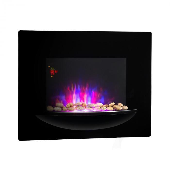 Klarstein Feuerschale sähköinen seinätakka 1800 W liekkiefekti koristekivet musta