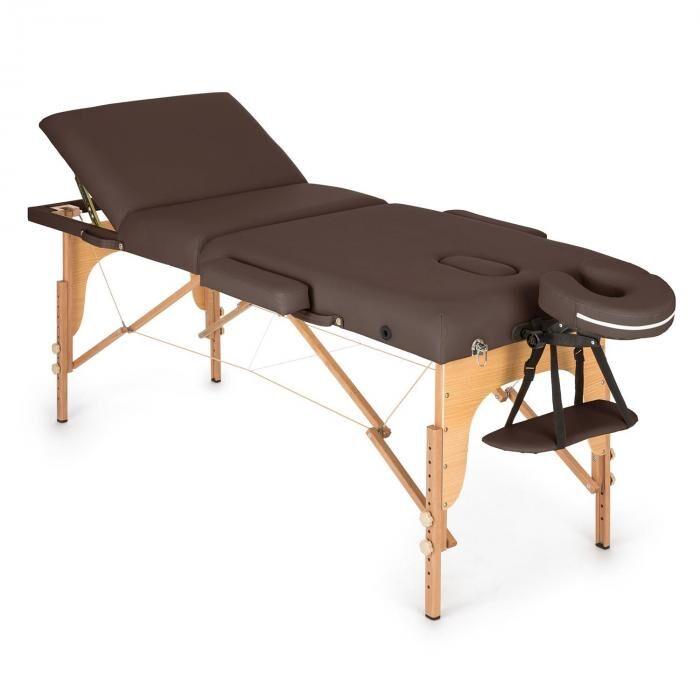 KLARFIT MT 500 hierontapöytä 210 cm 200 kg taitettava vaahtomuovi kassi ruskea