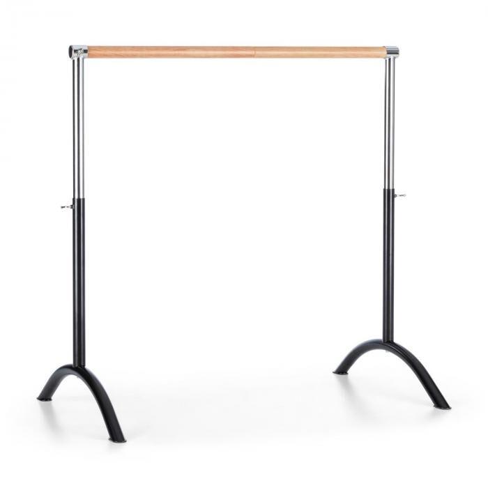 KLARFIT Balettitanko liikutettava 110x113cm säädettävä korkeus terästä musta